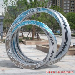 不锈钢戒指雕塑