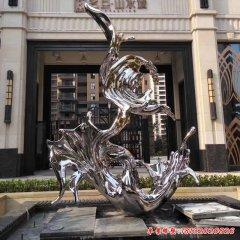 不锈钢抽象水花浪花雕塑