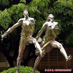 不銹鋼抽象運動跑步人物
