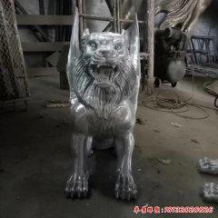 不銹鋼飛虎動物雕塑