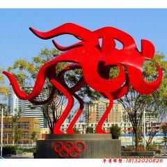 奧運抽象不銹鋼雕塑