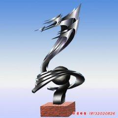 奔騰抽象不銹鋼雕塑