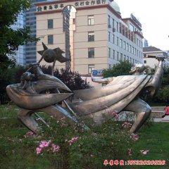 比武不銹鋼古代人物雕塑