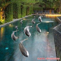 別墅庭院景觀魚不銹鋼