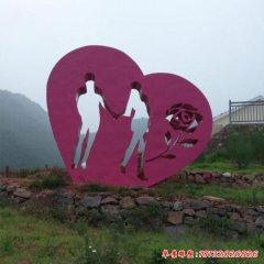 不銹鋼創意愛心雕塑