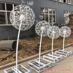 不銹鋼燈飾蒲公英雕塑