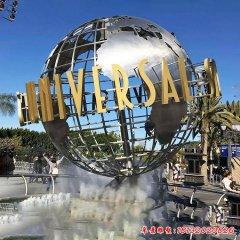 不锈钢地球仪喷泉雕塑