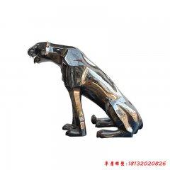 公園動物豹不銹鋼