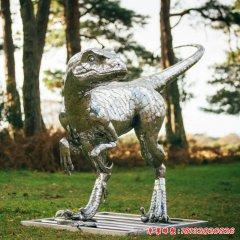 不銹鋼公園恐龍雕塑
