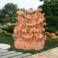 园林雕刻石雕荷花