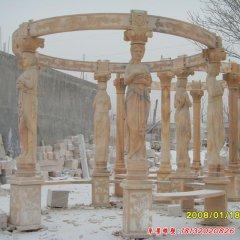 西方凉亭石雕