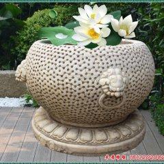 小区石雕鱼缸