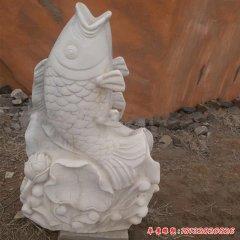 鲤鱼石雕喷泉