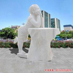 广场儿童人物石雕