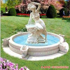 西方景观石雕喷泉