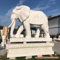 如意动物大象石雕