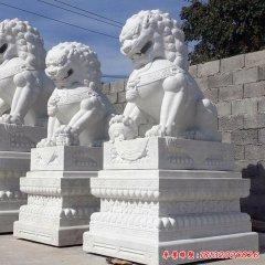 公园做旧狮子石雕