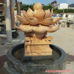 别墅荷花流水盆石雕