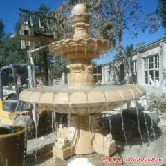 风水球大型石雕喷泉