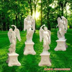 公园西方天使石雕