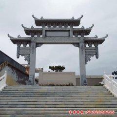 寺庙单门石牌坊