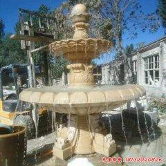 廣場風水球噴泉石雕