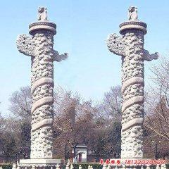 公园雕刻盘龙柱石雕