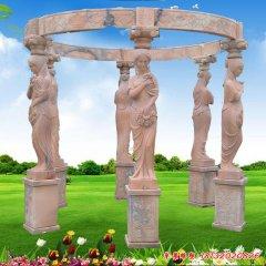 欧式西方人物凉亭石雕