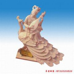 园林古代琵琶女人物石雕
