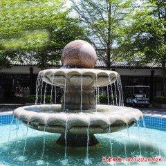 公园双层石雕喷泉