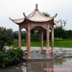 公园凉亭四角石雕
