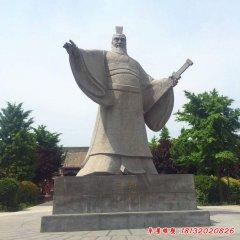 曹操三国人物石雕