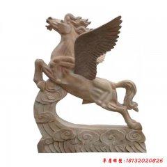 公園飛馬動物石雕