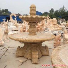 砂岩喷泉石雕