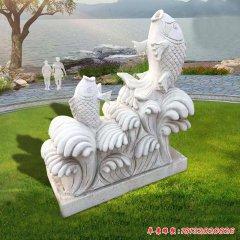 园林鲤鱼石雕喷泉