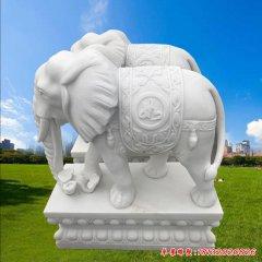 園林動物大象石雕