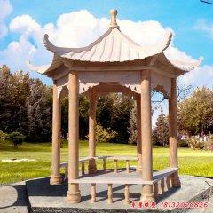 景区凉亭石雕