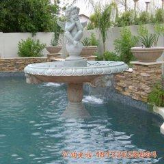 天使喷泉石雕