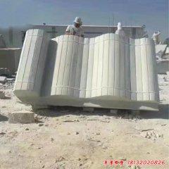 大型竹簡石雕