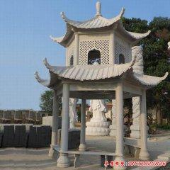 公园建筑凉亭石雕雕塑