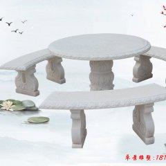 別墅歐式圓桌凳石雕