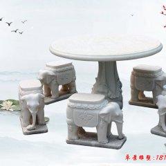 歐式別墅漢白玉石桌凳