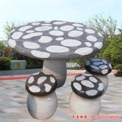 大理石蘑菇造型石桌凳