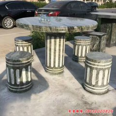 別墅室外圓桌凳石雕