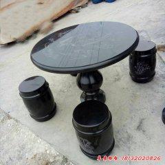 庭院梅蘭竹菊浮雕石桌凳