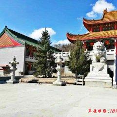 寺廟門口獅子石雕