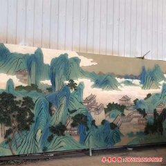 玻璃鋼山水畫彩繪浮雕
