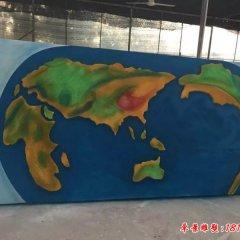 玻璃鋼彩繪世界地圖浮雕