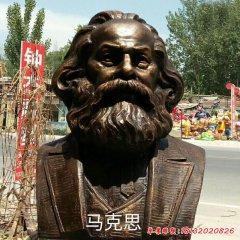 西方思想家銅雕馬克思頭像