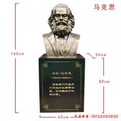 學校名人馬克思頭像銅雕